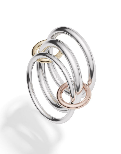 SPINELLI KILCOLLIN JEWELRYFINE JEWELRING SILVER / 8 Daphne Silver 3 Link Rings
