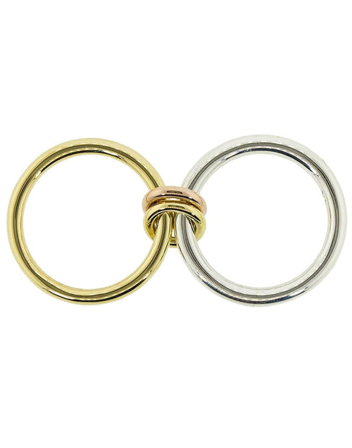 SPINELLI KILCOLLIN JEWELRYFINE JEWELRING YLWGOLD / 7 Calliope Yellow Gold and Silver 2 Link Ring