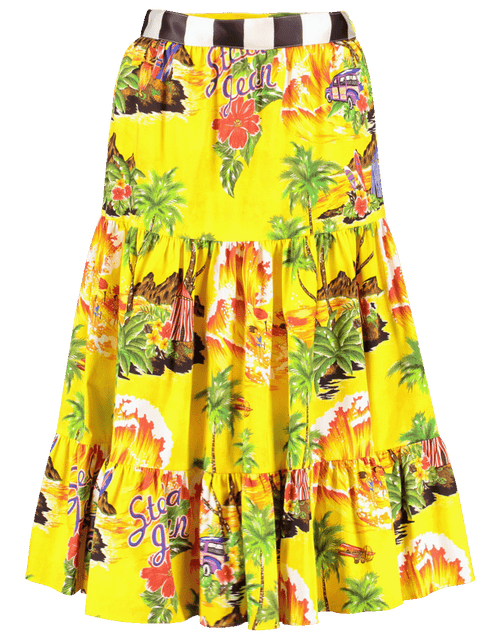 STELLA JEAN CLOTHINGSKIRTMISC Tropical Print Tiered Skirt