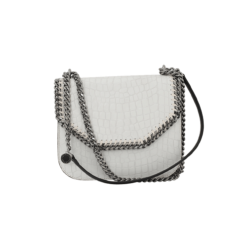 STELLA MCCARTNEY HANDBAGTOP HANDLE IVORY Falabella Crocodile Bag