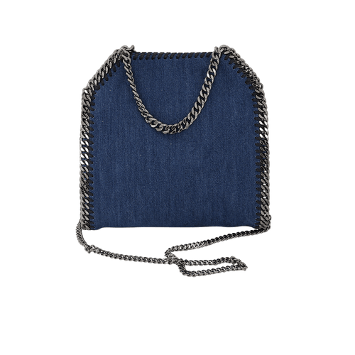 STELLA MCCARTNEY HANDBAGTOTES CERULEAN Mini Falabella Embroidered Tote