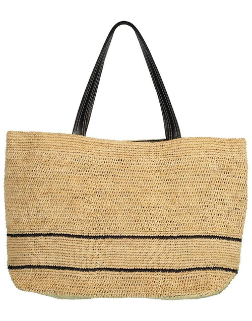 STELLA MCCARTNEY HANDBAGTOTES SAND Medium Raffia Natural Tote