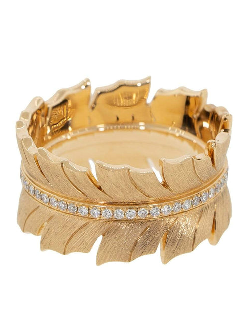 STEPHEN WEBSTER JEWELRYFINE JEWELRING ROSEGOLD / 7 Magnipheasant Diamond Feather Band