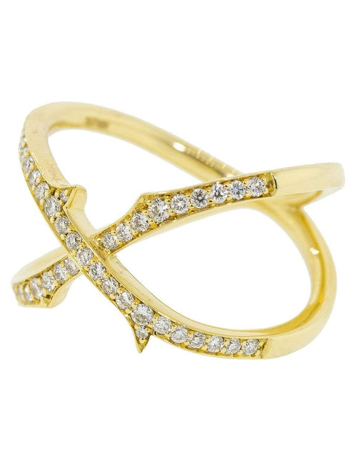STEPHEN WEBSTER JEWELRYFINE JEWELRING YLWGOLD / 7.75 Thorn Stem Mini Crossover Ring