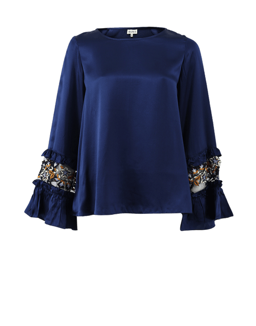 SUNO CLOTHINGTOPMISC Embroidered Cuff Top