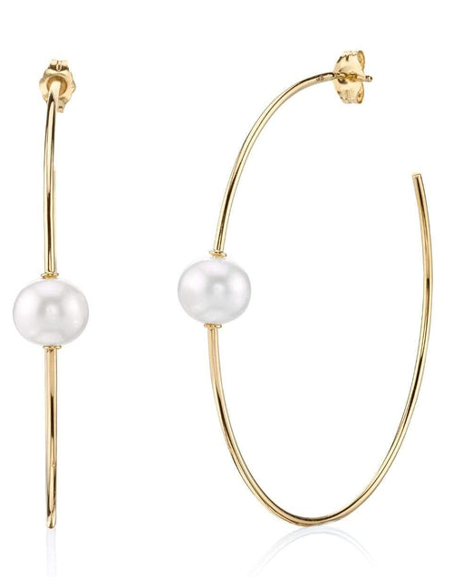SYDNEY EVAN JEWELRYFINE JEWELEARRING YLWGOLD Pearl Hoop Earrings