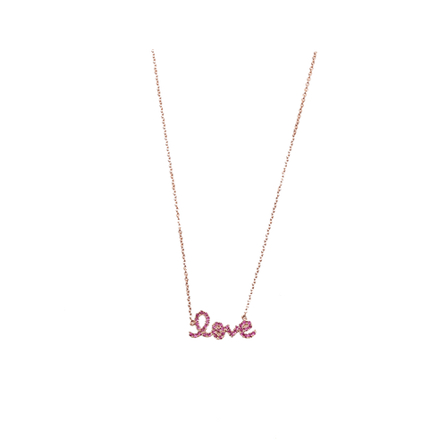 SYDNEY EVAN JEWELRYFINE JEWELNECKLACE O ROSEGOLD Love Necklace