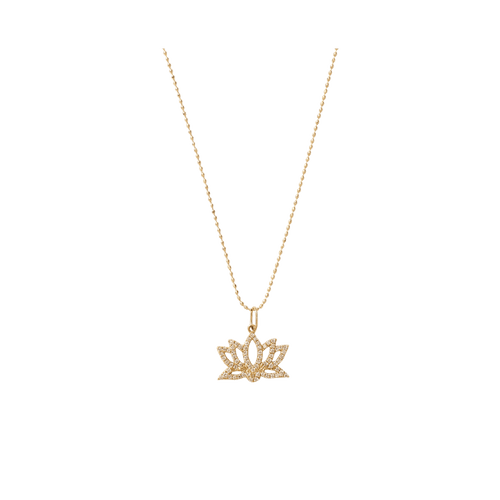 SYDNEY EVAN JEWELRYFINE JEWELNECKLACE O YLWGOLD Diamond Lotus Necklace