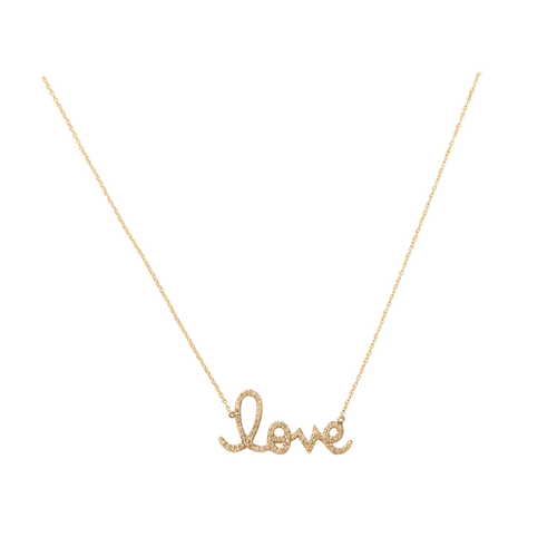 SYDNEY EVAN JEWELRYFINE JEWELNECKLACE O YLWGOLD Large Diamond Love Necklace