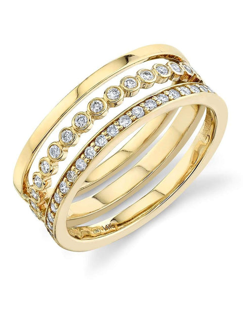 SYDNEY EVAN JEWELRYFINE JEWELRING 6.5 / YLWGOLD Triple Band Ring