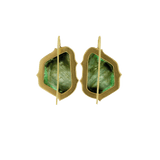 SYLVA & CIE JEWELRYFINE JEWELEARRING YLWGOLD Amazon Trapezoid Emerald Earrings