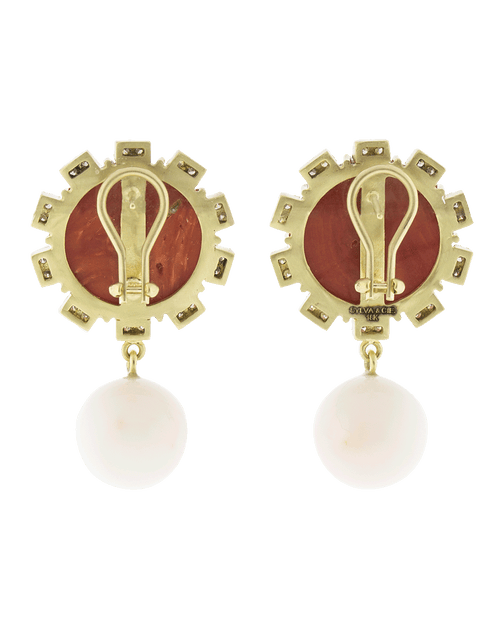 SYLVA & CIE JEWELRYFINE JEWELEARRING YLWGOLD Mediterranean Coral Earrings