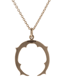 SYLVA & CIE JEWELRYFINE JEWELNECKLACE O ROSEGOLD Small Horseshoe Pendant Necklace
