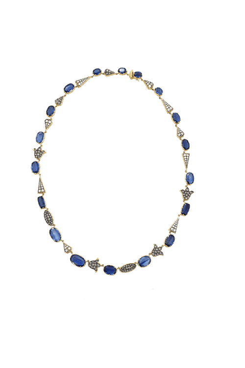 SYLVA & CIE JEWELRYFINE JEWELNECKLACE O YLWGOLD Kyanite And Diamond Necklace