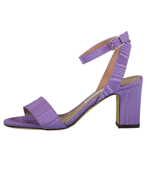 TABITHA SIMMONS SHOESANDAL Purmoir Satin Block Heel Sandal