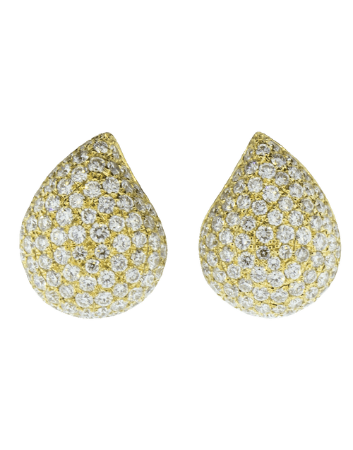 TAMARA COMOLLI JEWELRYFINE JEWELEARRING YLWGOLD Large Pave Diamond Signature Earrings