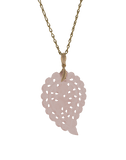 TAMARA COMOLLI JEWELRYFINE JEWELPENDANT ROSEGOLD Medium Carved Rose Chalcedony India Pendant