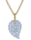TAMARA COMOLLI JEWELRYFINE JEWELPENDANT ROSEGOLD Small Carved Denim Chalcedony India Pendant