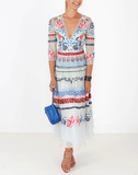 TEMPERLEY LONDON CLOTHINGDRESSCASUAL Aura Embroidered Dress