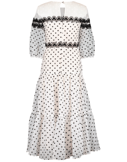 TEMPERLEY LONDON CLOTHINGDRESSCASUAL WHITE / 6 Prix Polka Dot Midi Dress