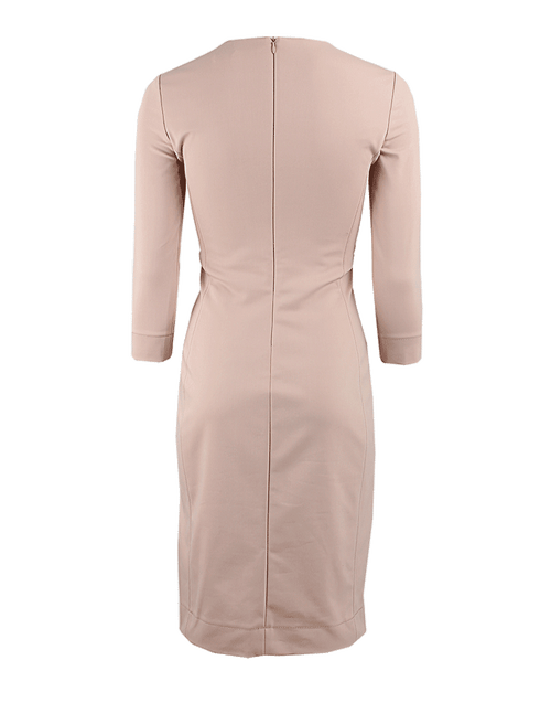 THE ROW CLOTHINGDRESSCASUAL Long Sleeve Scoop Neck Plocksie Dress