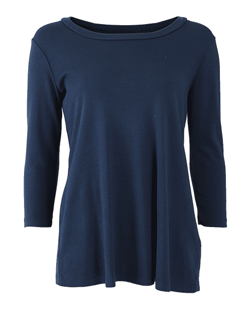 THREE DOTS CLOTHINGTOPT-SHIRT Three Quarter Scoop Neck Swing Top