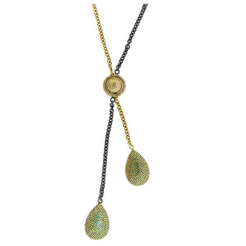 TODD REED JEWELRYFINE JEWELNECKLACE O YLWGOLD Pear Shape Tourmaline Necklace