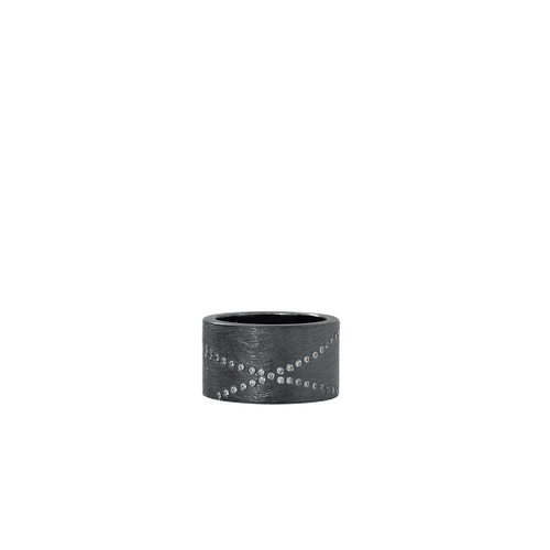 TODD REED JEWELRYFINE JEWELRING SILVER / 6.25 Diamond X Ring