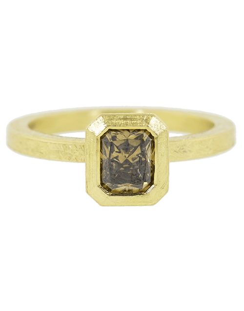 TODD REED JEWELRYFINE JEWELRING YLWGOLD / 6.25 Fancy Diamond Solitaire Ring