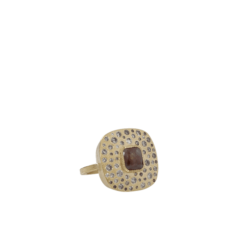 TODD REED JEWELRYFINE JEWELRING YLWGOLD / 6.5 Brown Fancy Diamond Ring