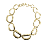 VAUBEL JEWELRYBOUTIQUENECKLACE O GRN/GOLD Connected Thick Circle Necklace