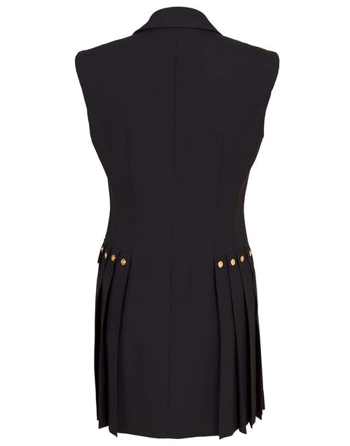 VERSACE CLOTHINGDRESSCASUAL BLACK / 40 Pleated Vest Dress