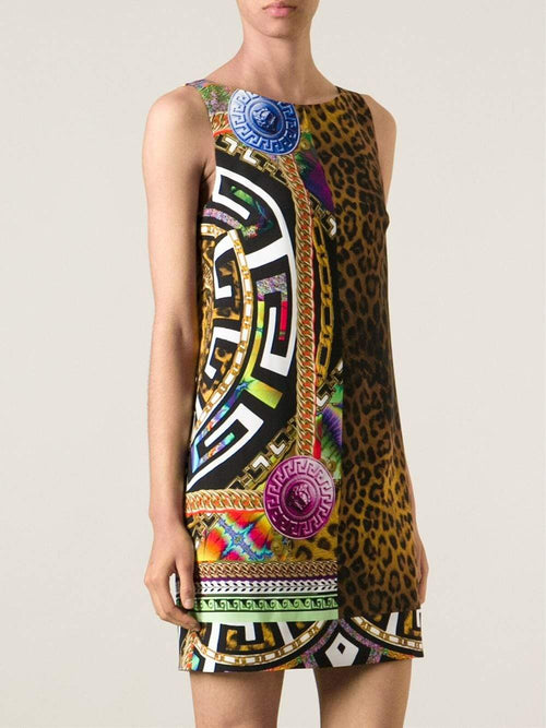 VERSACE CLOTHINGDRESSCASUAL Multi-Print Shift Dress