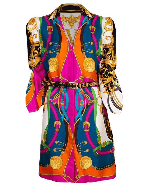 VERSACE CLOTHINGDRESSCASUAL Tie Shirt Dress