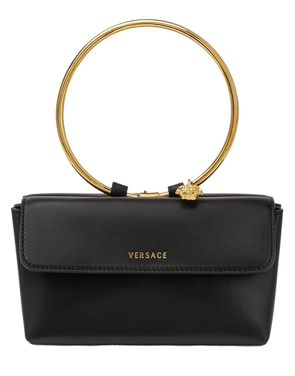 VERSACE HANDBAGEVENING NERO/ORO Medusa Ring Evening Bag