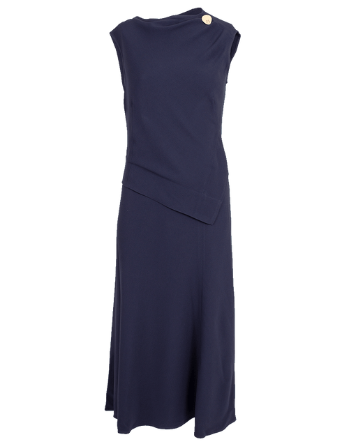 VICTORIA BECKHAM CLOTHINGDRESSCASUAL Sleeveless Draped Midi Dress
