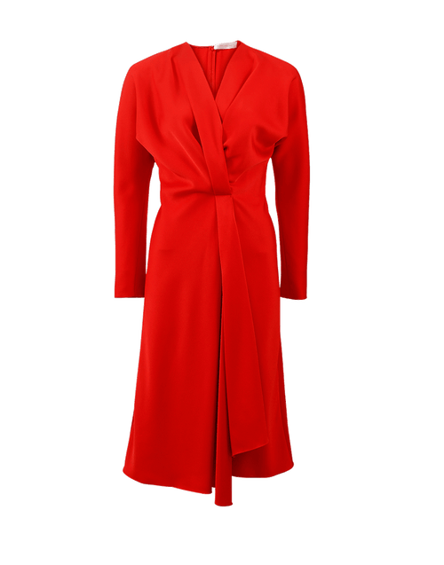 VICTORIA BECKHAM CLOTHINGDRESSCASUAL Wrap Drape Midi Dress