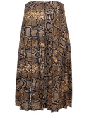 VICTORIA BECKHAM CLOTHINGSKIRTMISC Pleated Snake Print Midi Skirt