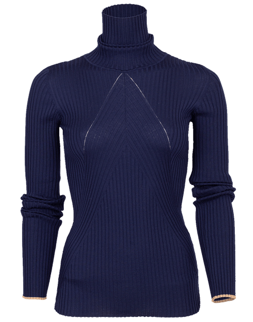 VICTORIA BECKHAM CLOTHINGTOPKNITS Slim Polo Neck Sweater