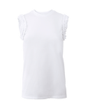 VICTORIA BY V. BECKHAM CLOTHINGTOPT-SHIRT Ruffle Detail Tee
