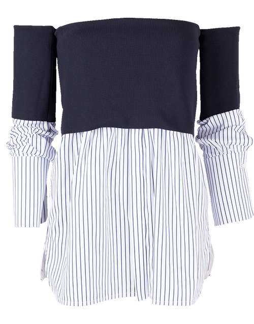 VICTORIA VICTORIA BECKHAM CLOTHINGTOPMISC Off Shoulder Shirt
