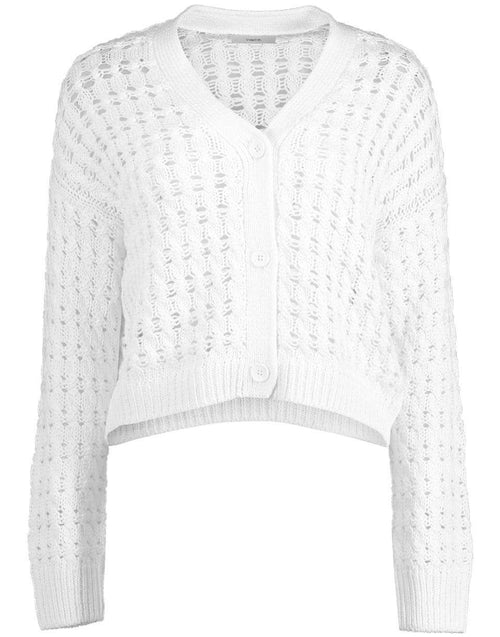 VINCE CLOTHINGTOPCARDIGAN White Open Cable Cardigan