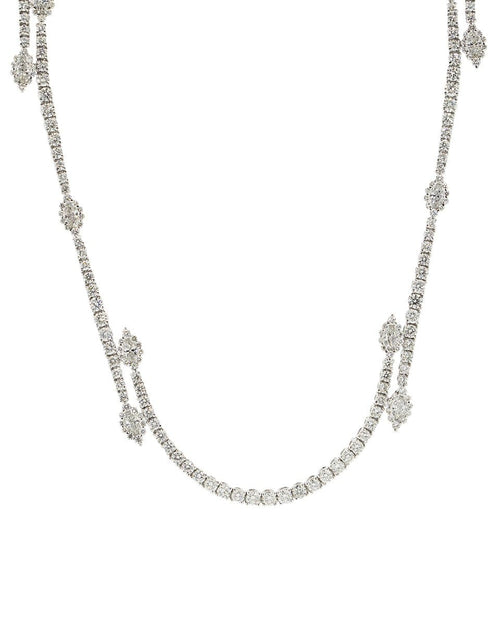 YEPREM JEWELLERY JEWELRYFINE JEWELNECKLACE O WHTGLD Round and Marquise Diamond Long Necklace