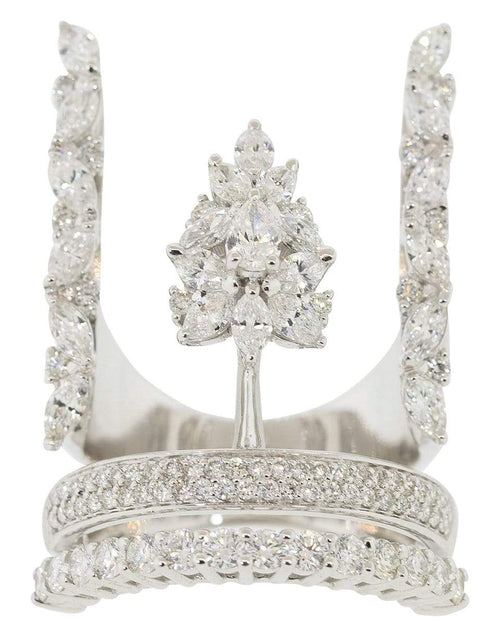 YEPREM JEWELLERY JEWELRYFINE JEWELRING WHTGLD / 7 Round, Marquise, and Pear Diamond Ring
