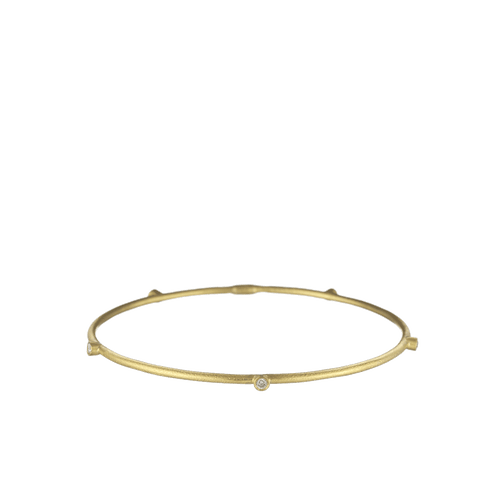 YOSSI HARARI JEWELRYFINE JEWELBRACELET O 24K GOLD Jane Five Diamond Stack Bangle
