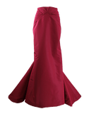 ZAC POSEN CLOTHINGDRESSGOWN TUSCNRED / 10 Twisted Seam Long Skirt