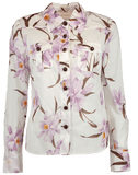 ZIMMERMANN CLOTHINGTOPBLOUSE Corsage Orchid Print Shirt