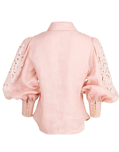 ZIMMERMANN CLOTHINGTOPMISC Freja Embroidered Shirt