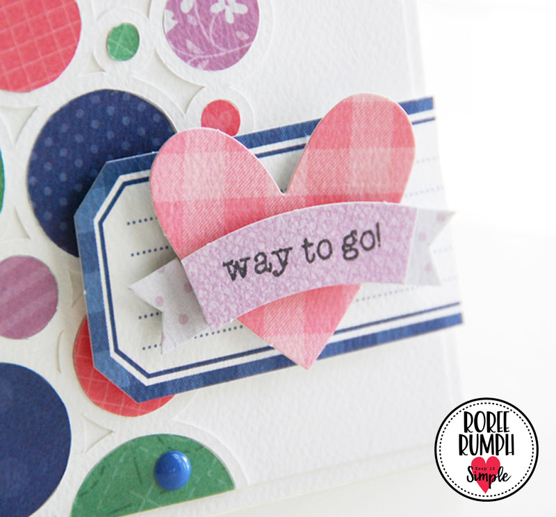 Colorful Circles Card with Back to Basics