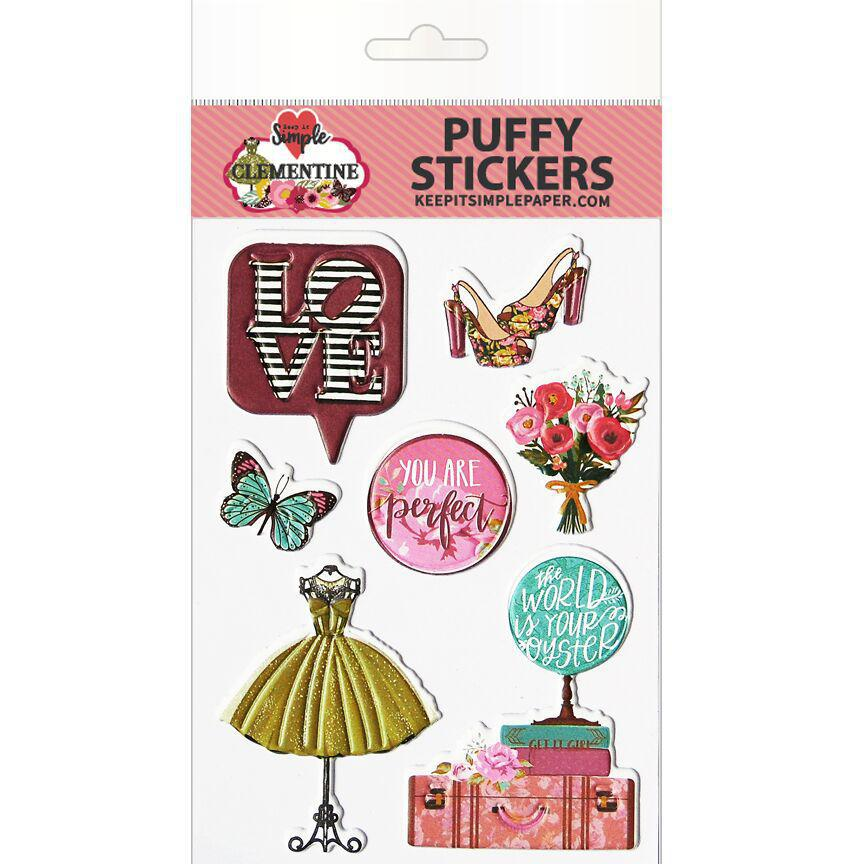Clementine Puffy Stickers